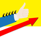 Team: De positieve groei Stock Afbeeldingen