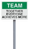 Team Definition. A conceptual road sign on teamwork Royalty Free Stock Image
