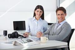 Team in der Bildbearbeitenabteilung Lizenzfreies Stockbild