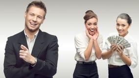 Team der jungen erfolgreichen Geschäftsleute Lizenzfreies Stockbild