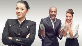 Team der jungen erfolgreichen Geschäftsleute Stockfotos