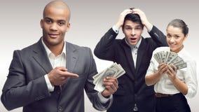 Team der jungen erfolgreichen Geschäftsleute Stockfoto