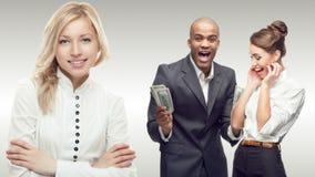 Team der jungen erfolgreichen Geschäftsleute Stockbild