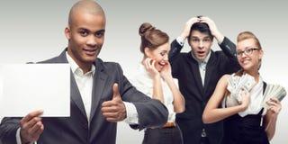 Team der jungen erfolgreichen Geschäftsleute Stockfotografie