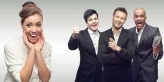 Team der jungen erfolgreichen Geschäftsleute Stockbilder