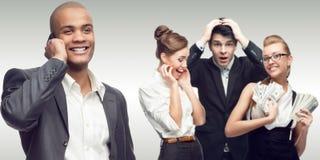 Team der jungen erfolgreichen Geschäftsleute Lizenzfreies Stockfoto