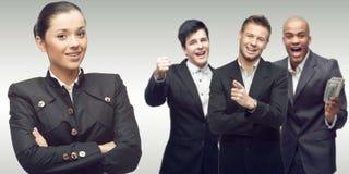 Team der jungen erfolgreichen Geschäftsleute Lizenzfreie Stockfotos