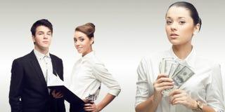 Team der jungen erfolgreichen Geschäftsleute Lizenzfreie Stockfotografie