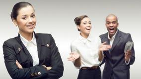 Team der jungen erfolgreichen Geschäftsleute Lizenzfreie Stockbilder