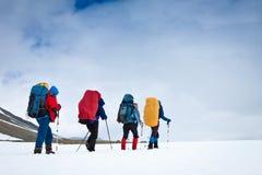 Team in der Wanderung Stockfoto