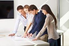 Team des Architektenarbeitens Stockfoto