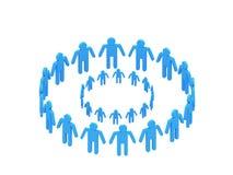 Team des Blaus 3d des Firmenzeichens zwei Stockbilder