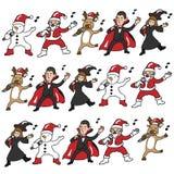 Team des Gesangs Halloween und des Weihnachten Lizenzfreies Stockbild
