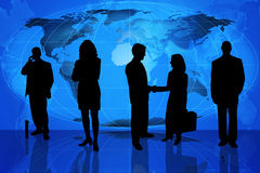 Team des globalen Geschäfts stock abbildung