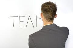 Team des Mannes? Stockfotografie