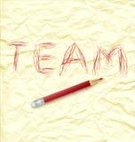 Team des schriftlichen Wortes Stockfoto
