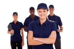 Team des technischen Services Stockfoto