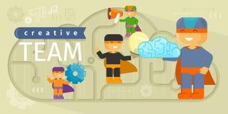 Team Design Flat Concept créatif illustration de vecteur