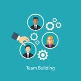 Team die menselijke hulpbron bouwen vector illustratie