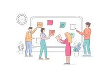 Team die van Ontwikkelaars Wekelijkse Programmataken plannen vector illustratie