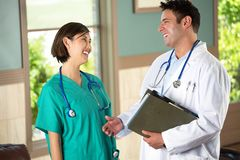 Team of diverse healthcare providers. Royalty Free Stock Image