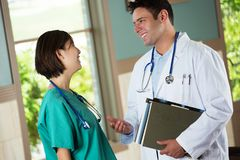 Team of diverse healthcare providers. Team of diverse healthcare providers helping patients Royalty Free Stock Photo