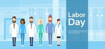 Team Doctor Group Labor Day medico può festa Fotografie Stock Libere da Diritti