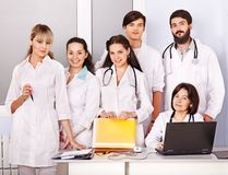 Team of doctor in hospital. Royalty Free Stock Photography