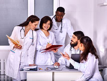 Team of doctor in hospital Stock Images