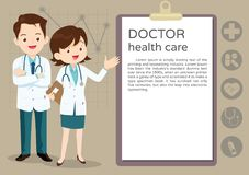 Team Doctor-presentatie Royalty-vrije Stock Foto's