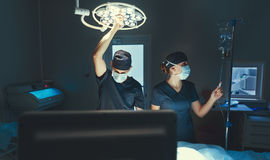 Team doctor surgeon in the operating room in clinic. Team doctor surgeon in the operating room in the clinic Stock Photos