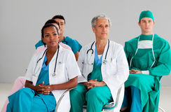 Team of doctors at a conference Stock Photos