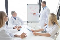 Team of doctors discuss mental health Royalty Free Stock Image
