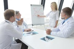 Team of doctors discuss mental health. Concept at presentation in clinical office stock photos
