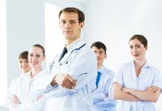 Team of doctors Stock Image