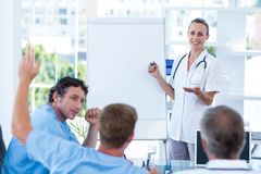 Team of doctors having brainstorming session Royalty Free Stock Photography
