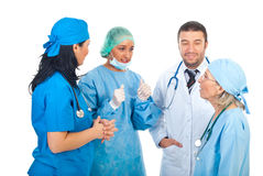 Team of doctors having conversation stock image
