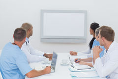 Team of doctors having a meeting Royalty Free Stock Images