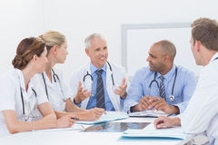 Team of doctors having a meeting Stock Photo