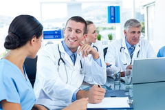 Team of doctors having a meeting Stock Images