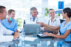 Team of doctors having a meeting Royalty Free Stock Photos