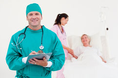 Team of doctors in a hospital Stock Photos