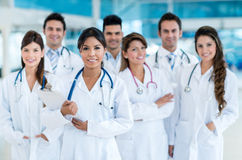 Team of doctors at the hospital Stock Photos