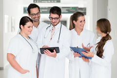 Team of doctors in hospital Stock Photography