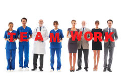 Team of doctors. Isolated on white background Stock Images
