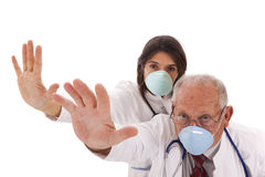 Team doctors with a mask Stock Photo