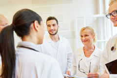 Team of doctors in meeting as teamwork concept. In hospital Royalty Free Stock Photo