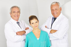 Team with doctors and a MTA. In the radiology in a hospital Stock Image