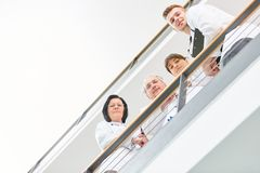 Team of doctors in clinic. Team of doctors and nurse in clinic as a group Stock Photos
