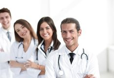 Team of doctors and nurses as colleagues in hospital. Concept of health stock photography